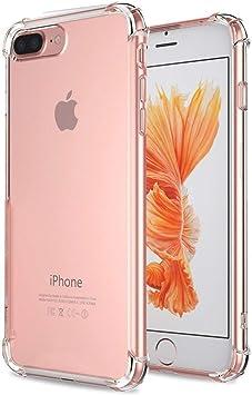 WELKOO Coque iPhone 7 Plus/iphone 8 Plus |Garantie A Vie| en Silicone renforcé Shockproof Anti Choc Couleur Transparente, Souple et Flexible. ...