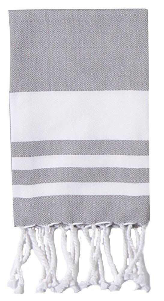 Kay Dee Designs R3599 Cookery Birdseye Fouta Towel, Steel