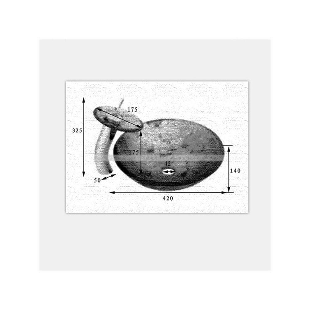 Homelava Modern Geh/ärtetes Glas Die ovalen Waschbecken mit Ablaufgarnitur Montagering