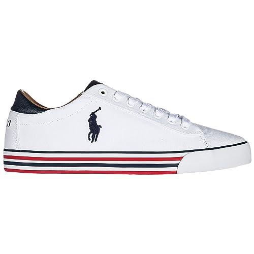 Polo Ralph Lauren Zapatillas Deportivas Hombre Bianco: Amazon.es: Zapatos y complementos