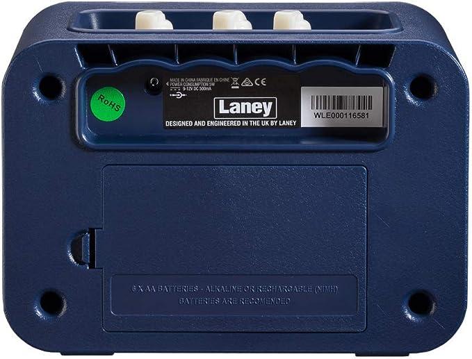 mini ampli guitare comparatif : Laney mini series - vue de dos