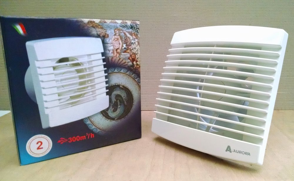 Aurora AS150004 Aspiratore da Bagno con Umidostato ASM 150 IG