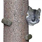HTOOR Garden Squirrel Tree Hugger, Garden Yard Art Decoration and Outdoor Tree Hugger Sculpture