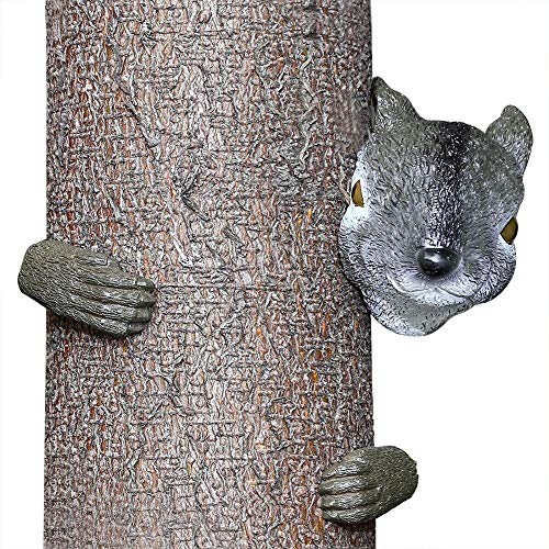 HTOOR Garden Squirrel Tree Hugger, Garden Yard Art Decoration and Outdoor Tree Hugger Sculpture by HTOOR
