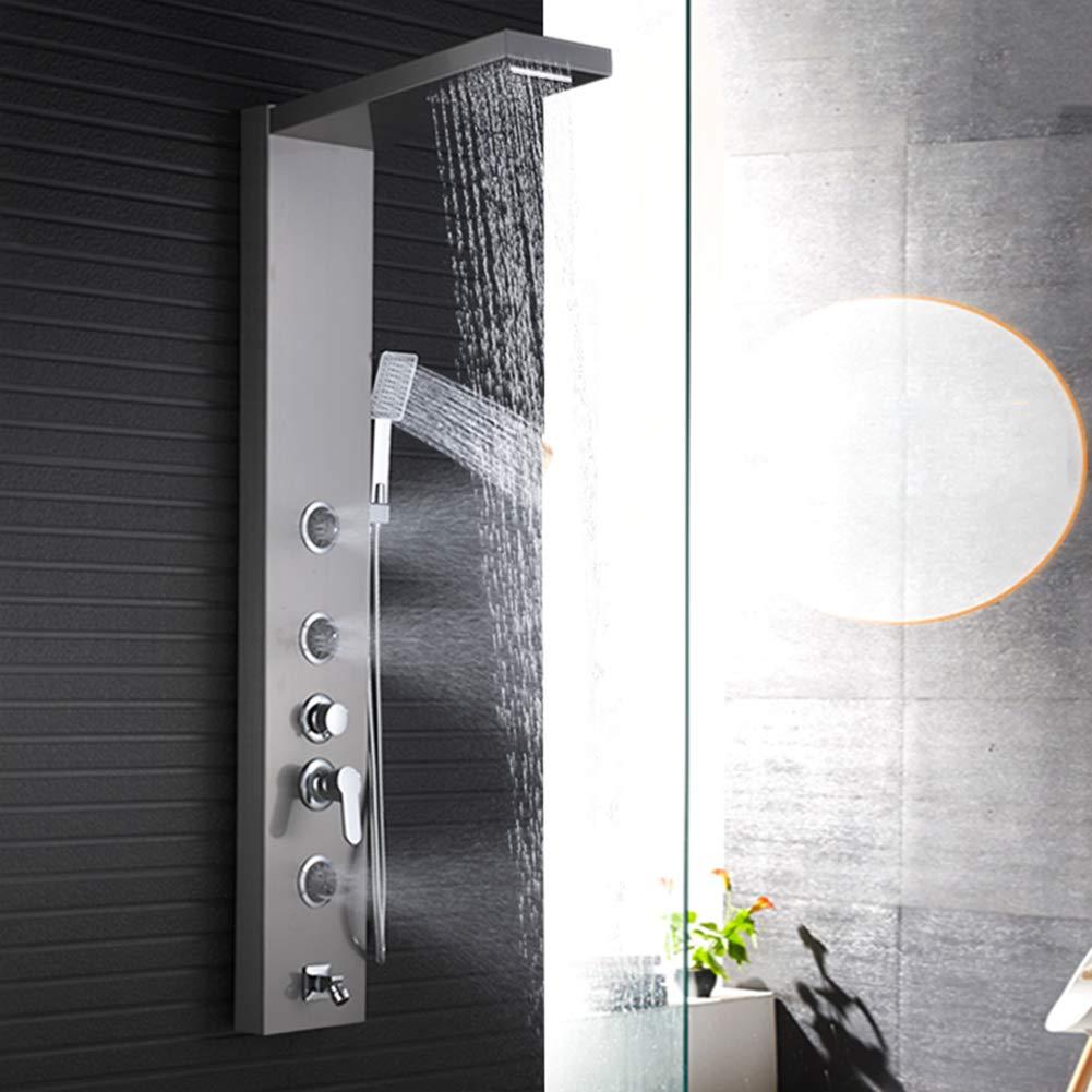 Wladimirowitsch Rosin Dusche Tower Badezimmer Wand montiert Edelstahl Körper Massagedüsen Handbrause Kopf Top Mixer Wasser System