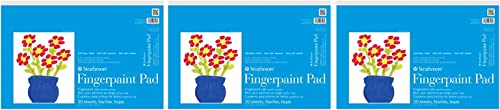 Strathmore 27-118 STR-27-118 30 Sheet Kids Finger-Paint Pad, 12 by 18 hree P ck