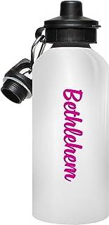 MugMax Bethlehem Water Bottle La Bouteille d'eau, Le Cadeau personnalisé, folâtre Les Bouteilles d'eau Qui indique Bethlehem, 600ml / 20oz