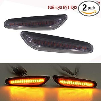 Smoke Lens Side Marker Light Turn Signal Lamp For BMW 3ER E46 E60 E61 X3 E83