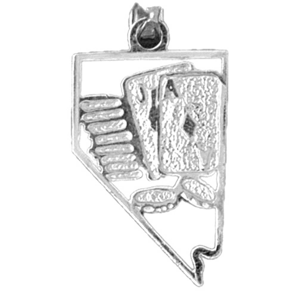 Jewels Obsession Nevada Necklace Rhodium-plated 925 Silver Nevada Pendant with 18 Necklace