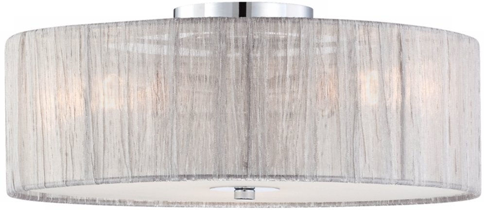 Possini euro sheer 16 wide silver fabric ceiling light flush possini euro sheer 16 wide silver fabric ceiling light flush mount ceiling light fixtures amazon aloadofball Image collections