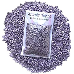Mini Violet Glimmer Heart Edible Sugar Sprinkles 25g cake cupcake decorations Hearts