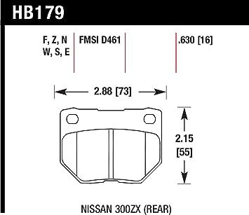 Hawk HP Plus Disc Brake Pads HB179N.630