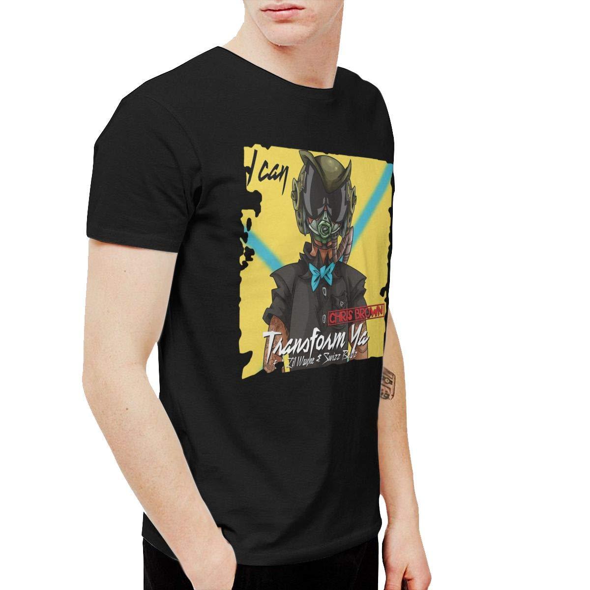 Qybfepbegw S Chris Brown I Can Funny Running Black Tshirts Short Sleeve