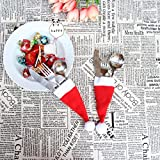 Clearance Sale!DEESEE(TM)Christmas Hat Knife and Fork Tool Christmas Decor