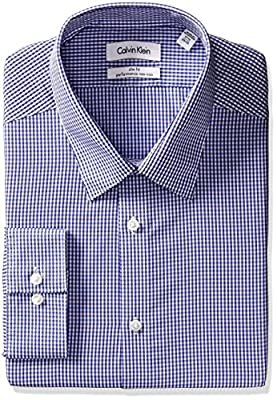 Calvin Klein Men's Slim Fit Non Iron Gingham Shirt