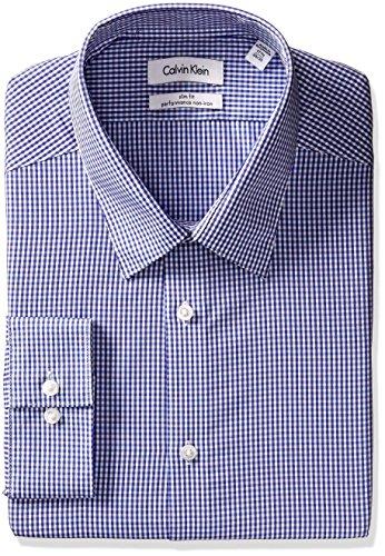 Calvin Klein Men's Slim Fit Non Iron Gingham Shirt