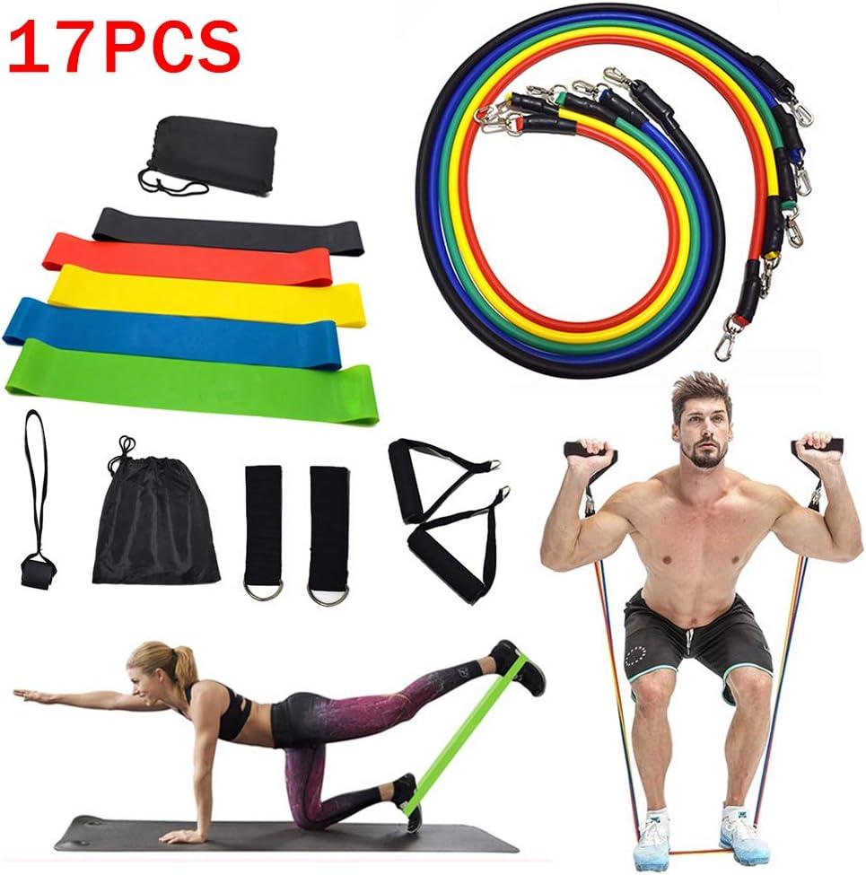 Hphore Ensemble de Bandes de R/ésistance Elastiques Musculation Set de Bande de R/ésistance pour Yoga Fitness Entra/înement
