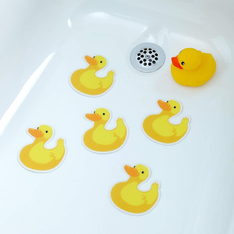 PVC Cute Ducks Bath Shower Mat Ducks 39cm x 70cm /& 167 Non Slip Suction Pads