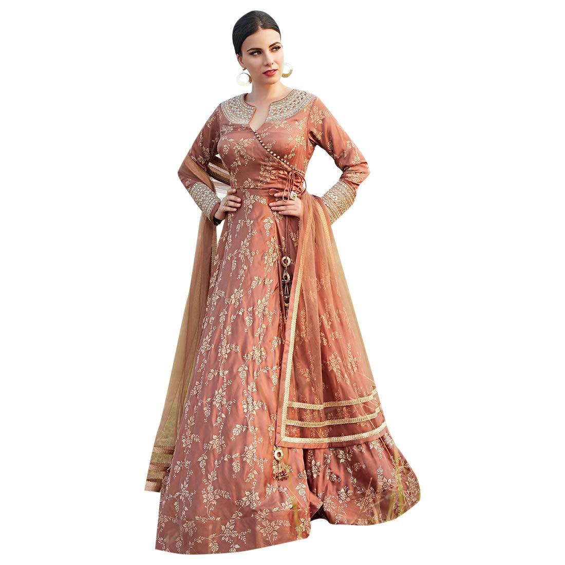 Indian Designer Collection Heavy Anarkali Salwar Kameez Suit With Soft Net Dupatta Stylish Women Muslim Party Wear 7273
