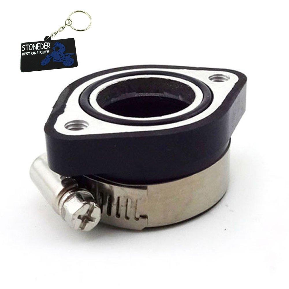STONEDER Intake Mainfold Adapter Boot Rubber Pipe Flange For Mikuni VM24 Keihin PE24 PE26 PE28 OKO Carburetor Pit Dirt Bike