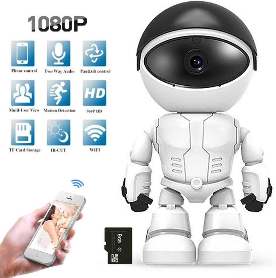 Lesgos Cámara IP inalámbrica de Alta definición con Robot, cámara de Seguridad inalámbrica 1080P cámara de Monitor Interior con detección de Movimiento 2.0MP con Funciones Ap: Amazon.es: Hogar