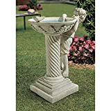 Design Toscano Summer's Splash Sculptural Birdbath For Sale