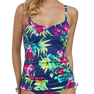 dc5678d8c0414 Fantasie Swim Amalfi Adjustable Sides Underwired Tankini Top: Amazon.co.uk:  Clothing