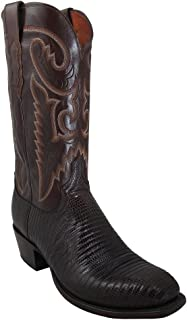product image for Lucchese Mens T6193.S4 Cigar Lizard/Antique Brown Buffalo Custom Boot