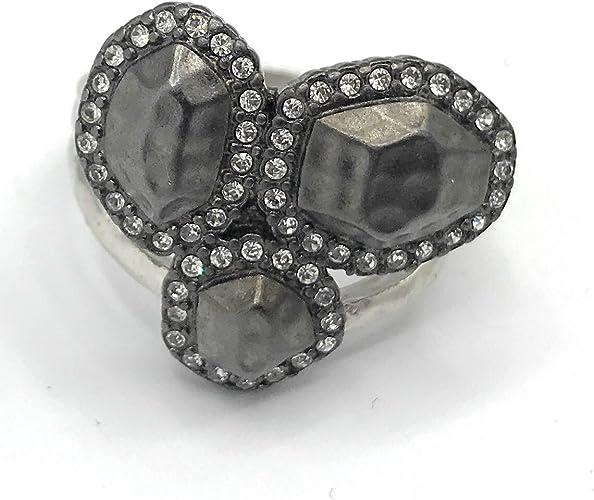 Lia Sophia Hematite Ring Size 7