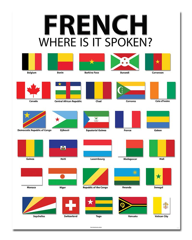 Amazoncom French Speaking Countries 20 x 26 Classroom