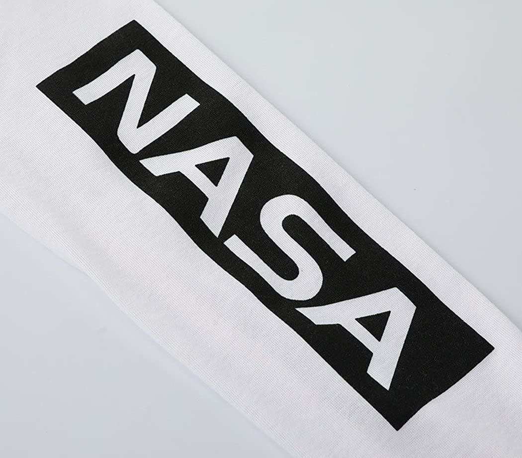 CFD Womens Fashion NASA Letter Printed Crewneck Sweatshirt at Amazon Womens Clothing store: