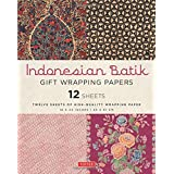 Indonesian Batik Gift Wrapping Papers: 12 Sheets of...