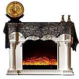 NEEDOON Halloween Decoration Spiderweb Fireplace