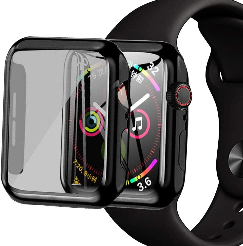 Kolumb Apple Watch Case Compatible with iWatch Series 4/ Series 5/ Series 6/ Series SE 40mm/44mm with Screen Protector, Overall Protective Cover Hard PC case with Built in PC Screen Protector.