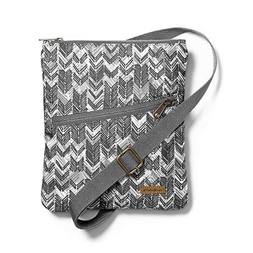 Eddie Bauer Unisex-Adult Connect 3-Zip Travel Bag, Black/White Regular ONESZE by Eddie Bauer