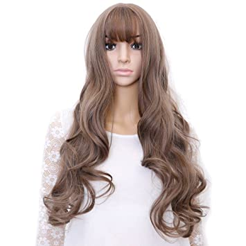 SHANGKE Hair 26   Long Wavy Wig Aoki Grey Synthetic Wigs For Black Women  Heat 3dfafe68b
