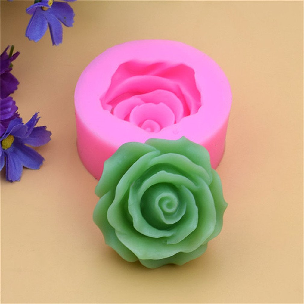 LnLyin Rose Kuchen Backen Silikon Form DIY Schokolade Form Handgefertigte Seife Form Kerzenform