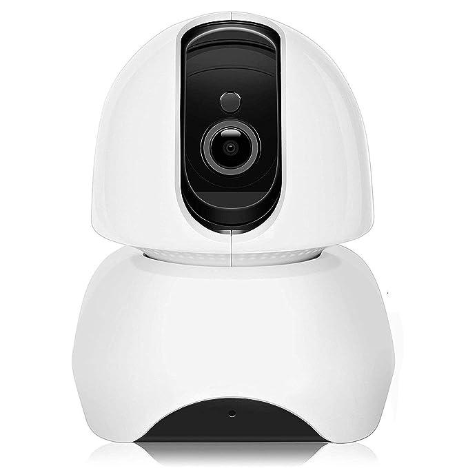 Cámara IP Wifi de vigilancia Interior HD Domo 1080P P2P, Nocturna, Detección de Movimiento, Aplicación para Teléfono Móvil/PC, Sistema Seguridad para ...
