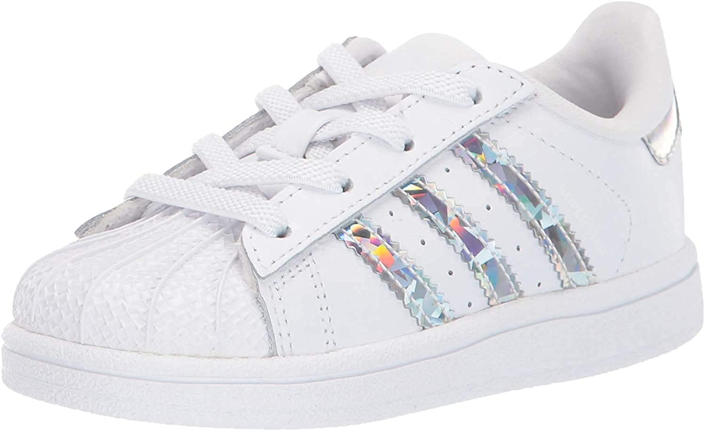 adidas Originals Baby Boys Superstar Shoes Sneaker, White/White/White, 4 Infant