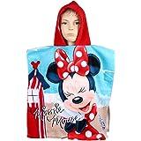 Peignoir de bain/plage Minnie Mouse sous licence Disney avec capuche pour fillette