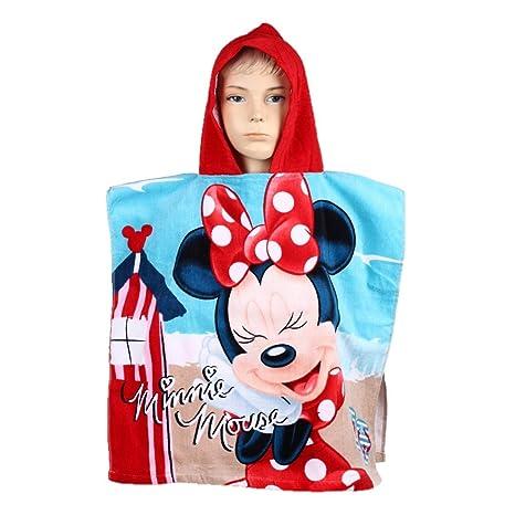 Toalla de playa / baño con capucha diseño Minnie Mouse con licencia