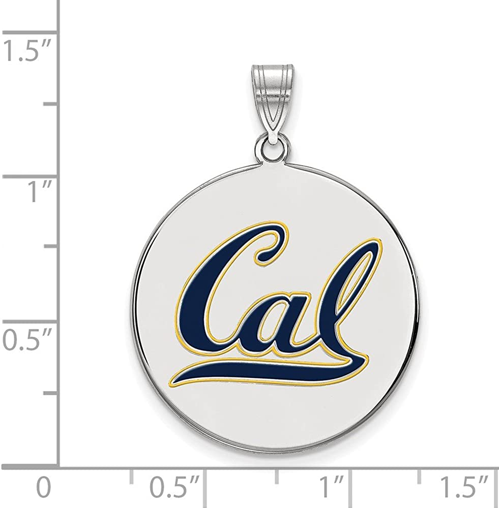 White Sterling Silver Charm Pendant California NCAA University Of Berkeley 32 mm 25