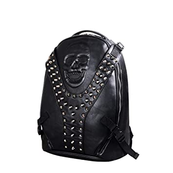 3D Skull Rivets Leisure Travel Laptop Mochila Escolar Steampunk Negro,1: Amazon.es: Bricolaje y herramientas