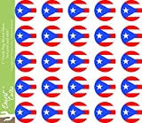 50 shades car decal - Puerto Rico State Flag Sticker Decal 1 Inch Round Two Sheets 50 Total Pieces Kids Logo Scrapbook Car