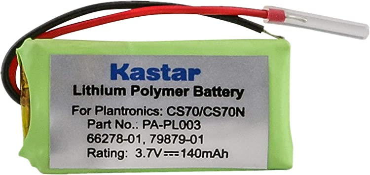 Amazon Com Replacement Battery For Plantronics 66278 01 Cs70 Cs70n Electronics