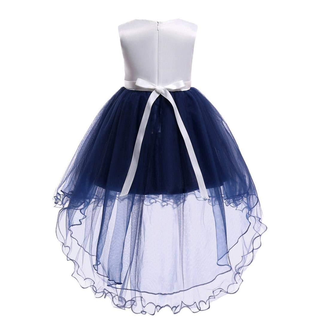 1942b53d9d6 Amazon.com  Moonker Girls Princess Wedding Dress 2-7 Years Old