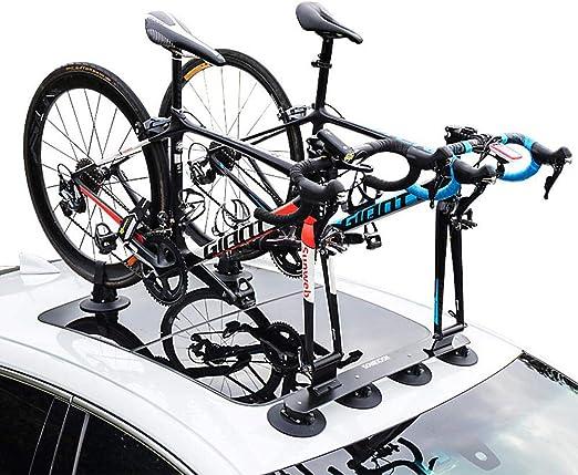 LJ-BICYCLE RACK Portaequipajes En El Techo Ventosa Coche Coche ...