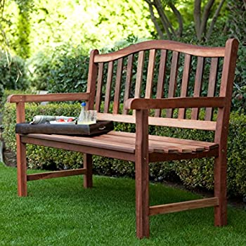 Belham Living Richmond Curved-Back 4-ft. Outdoor Wood Bench