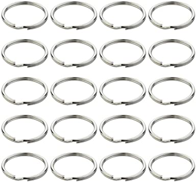 Titanium Alloy Strong 22mm Keyring Split Rings Key Chain Link Keychain Hanging