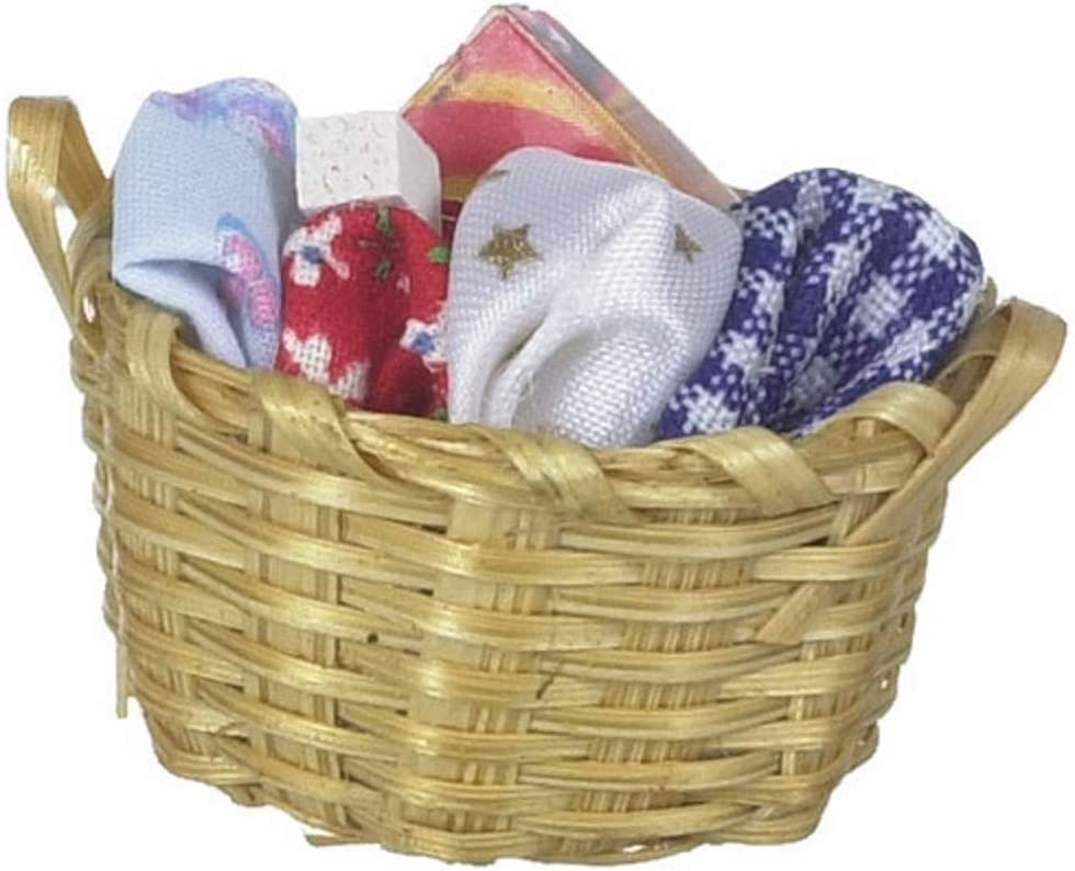 Dollhouse Miniature Laundry Basket